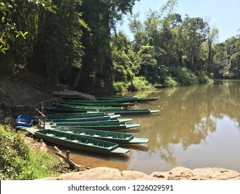 rowboat or sampan on Khek river,  Bang Rachan Islet, Tambon Nong Mae Na, Amphoe Khao Kho, Chang Wat Phetchabun Thailand