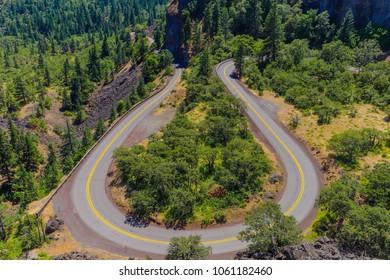 Rowena Crest Viewpoint Tourist Travel Oregon Popular Destination
