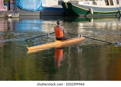 rower on the thames river