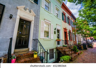 Rowhouses in Georgetown, Washington, DC.