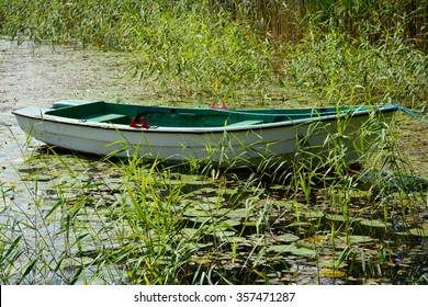 Rowing boat on a lake in Ed, Sweden