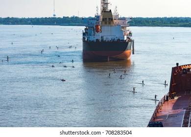 Rowing race at Mississippi, Baton Rouge, Louisiana