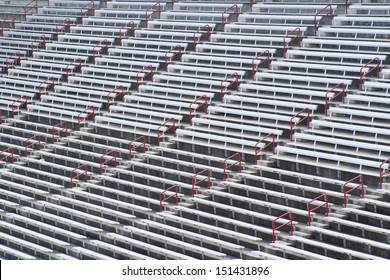 Rows of arena seating
