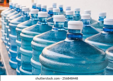 Rows of Big Bottle of Drinking Water Supply#4