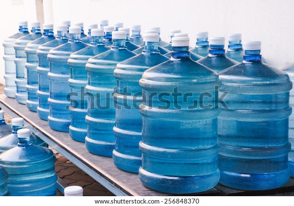 Rows of Big Bottle of Drinking Water Supply#2
