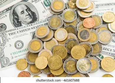 rows of coins for finance and banking concept,Investment