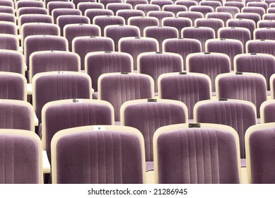 Rows of comfortable seats in theatre