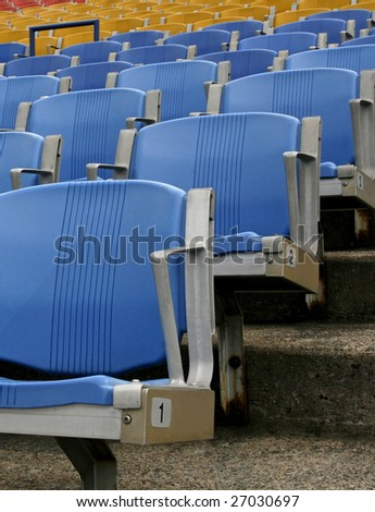 rows of empty box seats