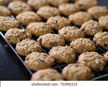 Rows and fresh baked cookies