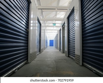 Rows of Indoor Storage Units (Rental Storage Units)