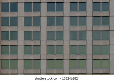 Rows and lines of building windows.