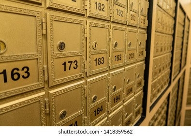 Rows of Post Office Boxes