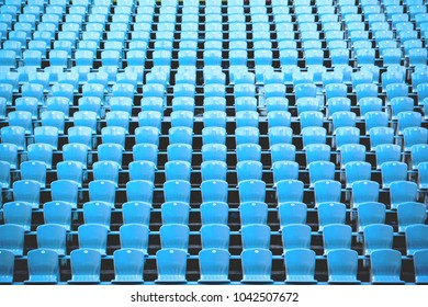 rows of seats in the stadium, background toned