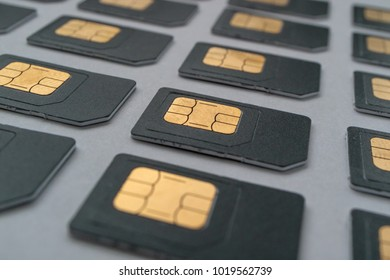 the rows SIM cards stretching into the distance, rows of SIM cards, lot of cards