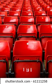 Rows of sport stadium seats