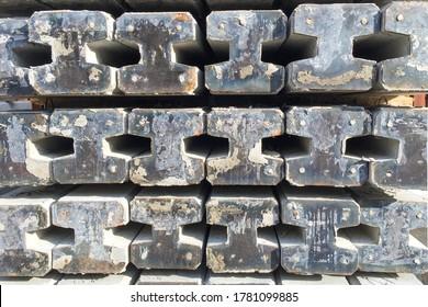 Rows of Spun Micropile for construction