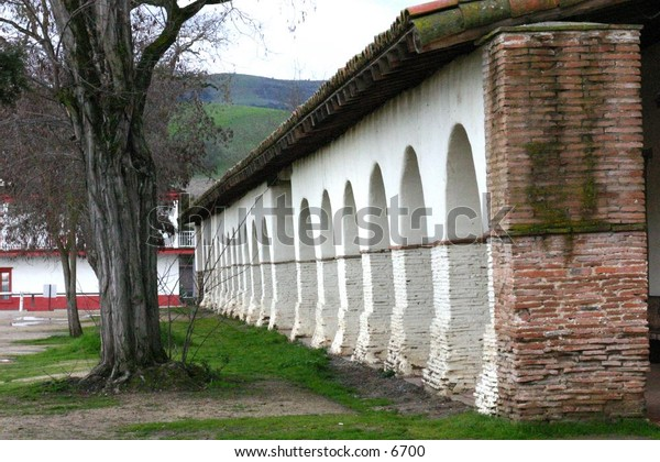 rows of white arches
