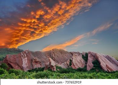 Roxborough State Park during Sunset, Colorado