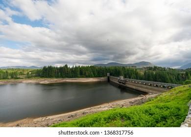 Roy Bridge Reservoir in Scotland in summer