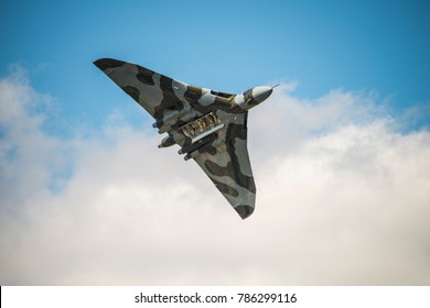 Royal Air Force Vulcan Bomber sadly now grounded but in its heyday the finest nuclear bomber Britain ever had. Named after the God of Fire.