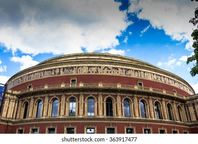 Royal Albert Hall of Arts and Sciences, large prestigious  concert hall on the northern edge of South Kensington, London, UK,  in late afternoon daylight