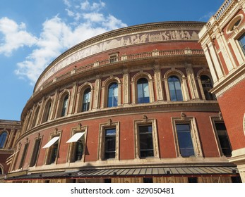 Royal Albert Hall concert room in London, UK