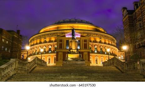 Royal Albert Hall at dusk, London