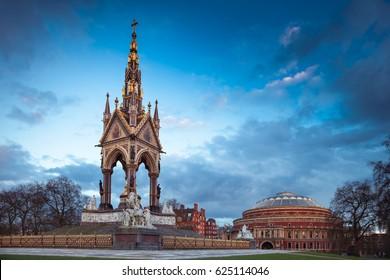 Royal Albert Hall from The Prince Albert Memorial perspective