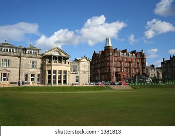 Royal and ancient clubhouse, St Andrews, Scotland