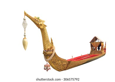 The Royal Barge Suphannahong ,Thailand isolated on white background with clipping path