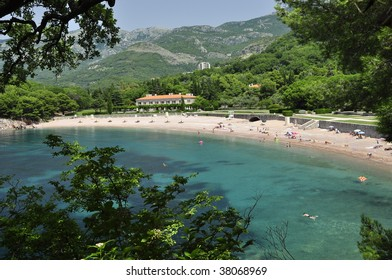 Royal beach in Sveti Stefan Montenegro