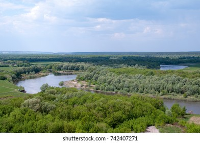 Royal bend of the river don in the area of the Assumption Divnogorsky monastery, the village of Selyavnoe-1, Liski district, Voronezh region, Russian Federation