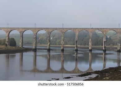 Royal Border Bridge at Berwick Upon Tweed - Northumberland - England