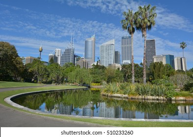 The Royal Botanic Gardens in Sydney New South Wales, Australia. No people. Copy space