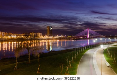 Royal Bridge in the City of Badajoz in Spain