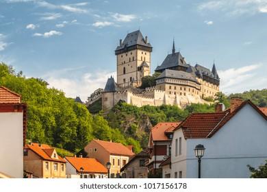 Royal Castle Karlstejn. Central Bohemia, Karlstejn village, Czech Republic