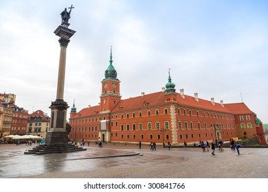 Royal Castle and Sigismund Column in Warsaw in a summer day, Poland