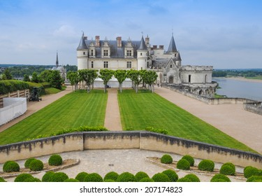Royal Chateau in Amboise in the Indre et Loire departement of the Loire Valley in France