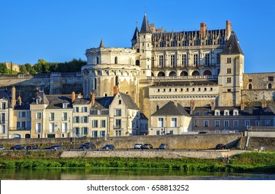The royal Chateau at Amboise  in the Loire Valley in France. Chateau d'Amboise.