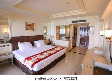 ROYAL CLIFF HOTEL, PATAYA, THAILAND - MARCH 13: hotel room  March 13, 2016 at Chonburi, Thailand.