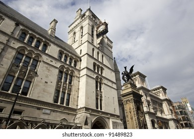 Royal Court of Justice on the Strand in London