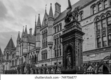 The Royal Courts of Justice building in London, England