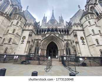 The Royal Courts of Justice in the Heart of London where various high profile cases are being heard every day