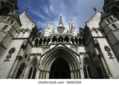 the royal courts of justice in the strand, london.