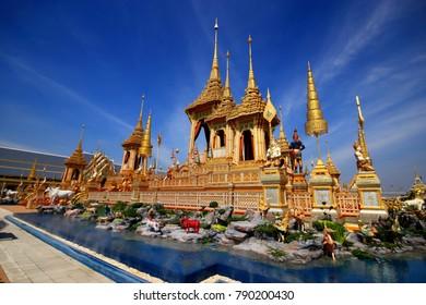 Royal Crematorium Replica Sanam Luang Bangkok Thailand,December 29 2017