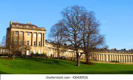 Royal Crescent Bath England panoramic landscape