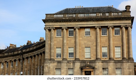 The Royal Crescent in Bath, Somerset, England, UK.