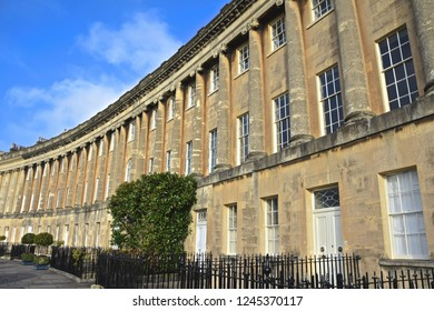 The Royal Crescent in sunny Bath