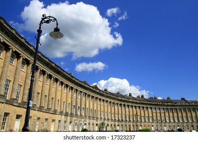 royal crescent with under white clouds