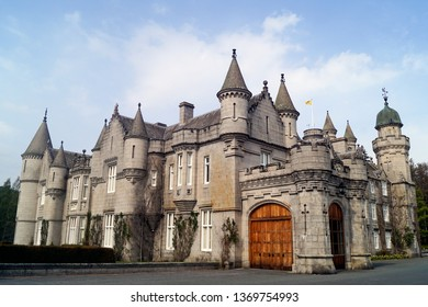 ROYAL DEESIDE, ABERDEENSHIRE, SCOTLAND - MAY 12 2017: Balmoral Castle, one of the residences of the royal family